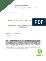 Private Sector Advisor JP