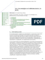 Arano - 2005 - Los tesauros y las ontolog{'i}as en la Biblioteconom{'i}a y la Documentaci{ó}n = Thesauruses and ontologies