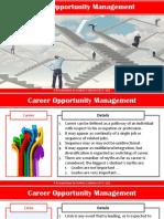 Career Opportunity Management