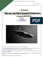 No, 'Oumuamua No Es Una Nave Espacial Extraterrestre - Podría Ser Incluso Más Extraño..