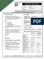 Hilti CA 80 Epoxy Grout(PDS)