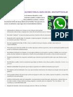 Normas Para El Buen Uso Del Whatsapp Escolar