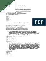 Lenguaje IV Medio Unidad II Prueba