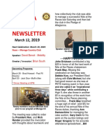 Moraga Rotary Newsletter March 12 2019