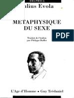 Métaphysique du sexe - Julius Evola.pdf