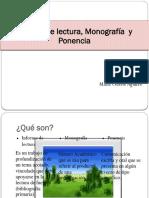 Monografía Informe y Ponencia
