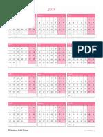 Calendário 2019 Para Imprimir11212