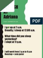 Adriana- LESSON 25 - November, 20th