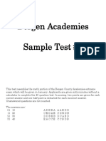 Math Sample Test 2013