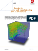 Sloshing in a Tank Modelled Using SPH as an Example in Abaqus