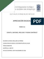 tareas de apreciacion musical