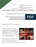 5 Ideas Para Preparar El Examen First Certificate Online