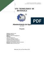 6.0.-Memoria Descriptiva de Proyecto de Abastecimiento de Agua.