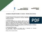 Retificação Chamada 36/2018 CNPq