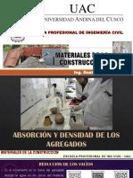 CLASE IV - ABSORCIÓN Y DENSIDAD DE LOS AGREGADOS