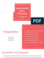 PRESENTAION ON INTERMEDIATE TERM FINANCING