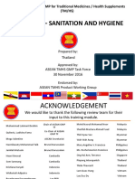ASEAN TMHS GMP Training Chapter 4 Sanitation and Hygiene FD