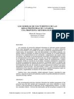 Los Modelos de Uso Turstico de Las Reas Protegidas de Canarias Una Propuesta Metodolgica 0