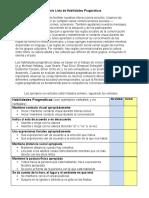 Lista de Habilidades Pragmaticas McGinnis