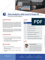 Data Analytics with Excel & Power BI Training