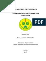 Pendidikan formal, Informal, dan Nonformal
