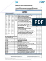 VRV Inspection and Pre-Commissioning Form