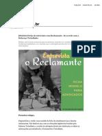 [Modelo] Ficha de Entrevista Com Reclamante - De Acordo Com a Reforma Trabalhista
