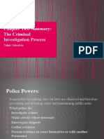 Chapter Two Summary - The Criminal Investigation Process