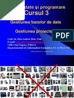 Cursul 3 - BD Proiecte
