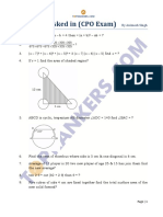 Question Asked CPO Exam