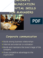 Corporate Communication Skills for Managers