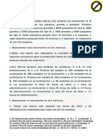 Problem a Rio 3.2 Matrices. Aplicaciones