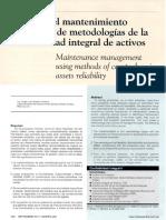 Mtto - Gestion Metodo Confiabilidad Integral de Activos 2015