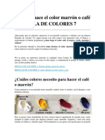 5-Cómo Se Hace El Color Marrón o Café