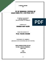Marginal Costing Projet.docx