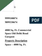 Commercial Space Gurgaon Bansal 9999100074, 9899330674