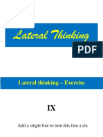 Lateral Thinking - MAS