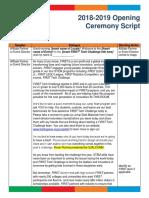 Opening Ceremony Script