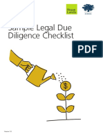 Legal Due Diligence Checklist