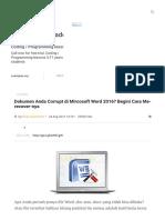 Cara Me-recover File Microsoft Word Yang Corrupt - Article - Plimbi Social Journalism _ Plimbi.com