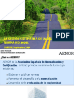 Gestion Sistematica de La Sv-Iso 39001 Cancun Sep 2014