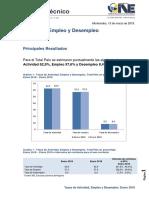 Cifras de empleo y desempleo INE