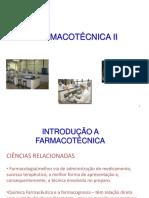 87725160 1 Aula de Farmacotecnica II