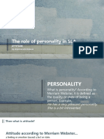 The Role of Personality in Second Language Acquisition