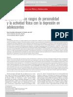 Relación entre Rasgos de Personalidad & Actividad Física con Depresión En Adolescentes