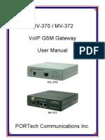 MV-370 User Manual