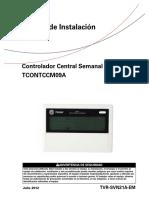 Control Central Semanal CCM09 - Manual de Instalación (Español)