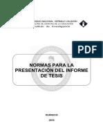 Normas Prara Redactar Informe de Tesis