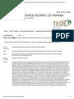 TEDE_ Avanços e Desafios Das Políticas Públicas de Formação de Professores Das Escolas Do Campo Na Paraíba