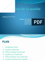 Production de La Qualité